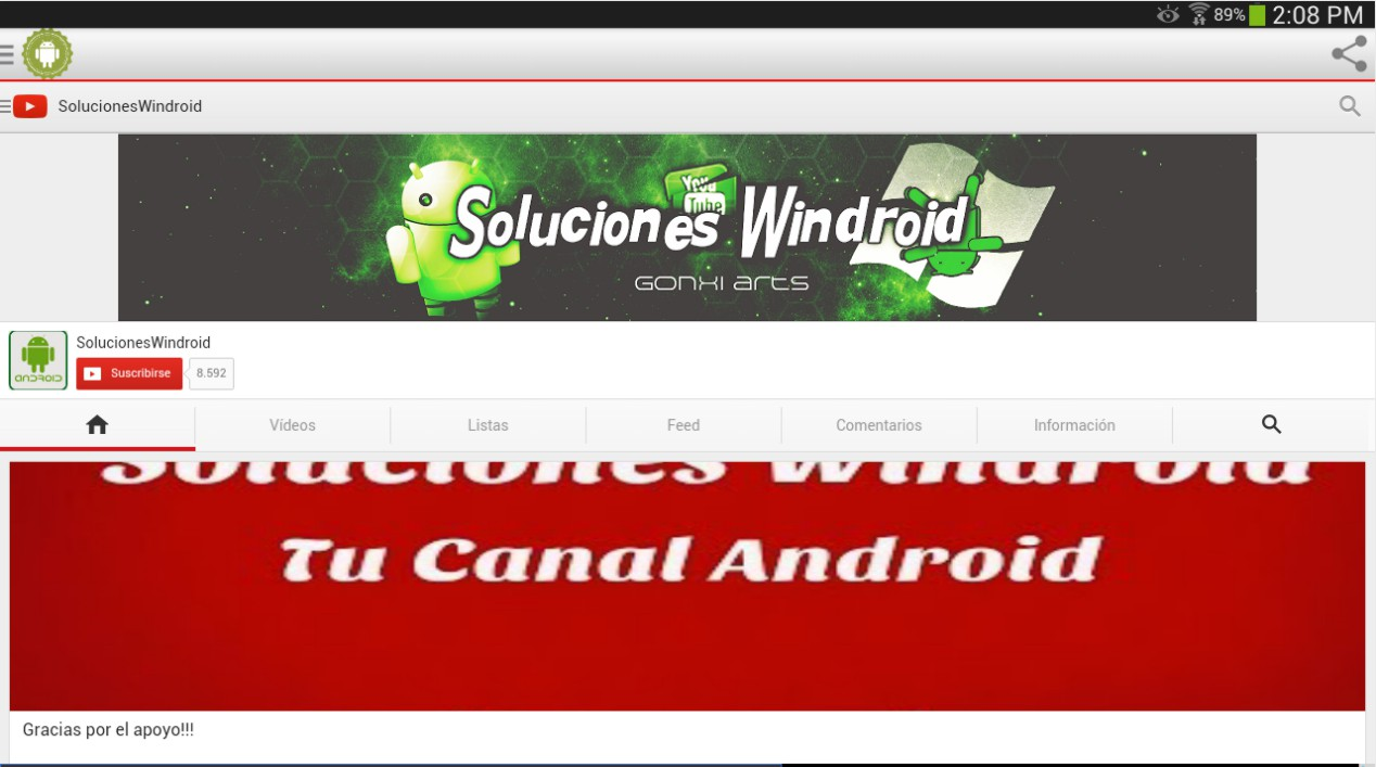 Soluciones Windroid App nueva version