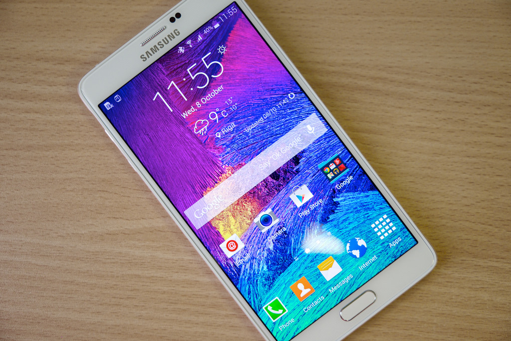 rom oficial android lollipop para el galaxy note 4 sm n910c