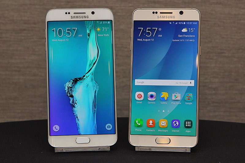 galaxy note 5 y el galaxy s6 edge plus
