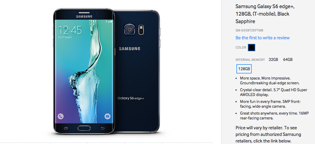 Galaxy S6 edge Plus de 128 GB