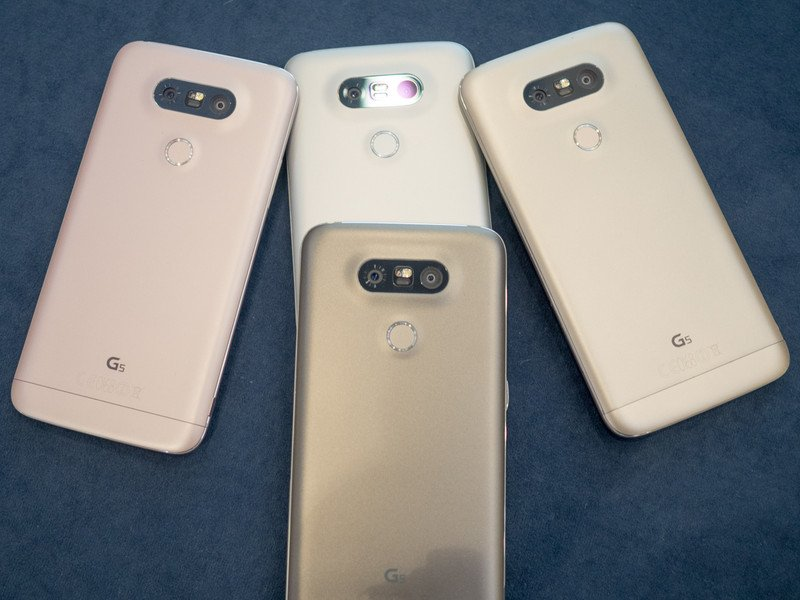 Colores disponibles del LG G5.