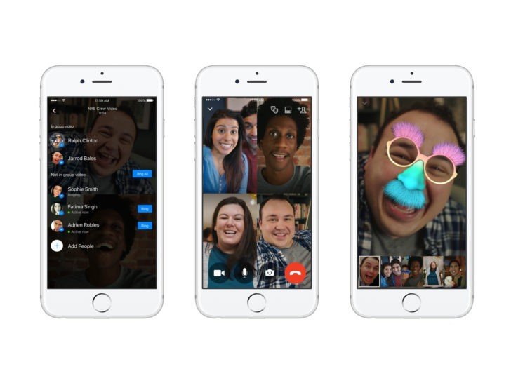 Los video chats grupales ya se encuentran disponibles en Facebook Messenger
