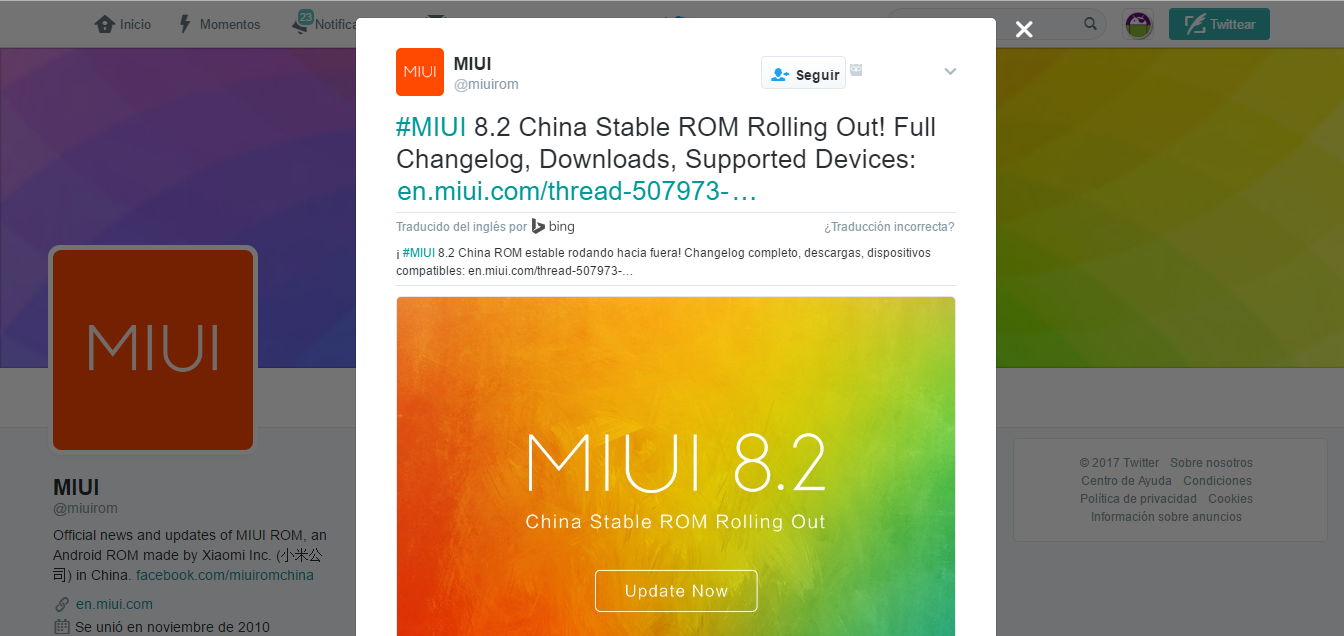 MIUI 8.2 Estable | Despliegue Oficial