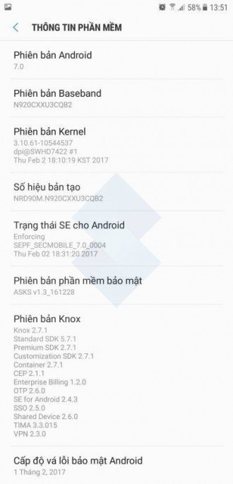Android Nougat - Galaxy Note 5