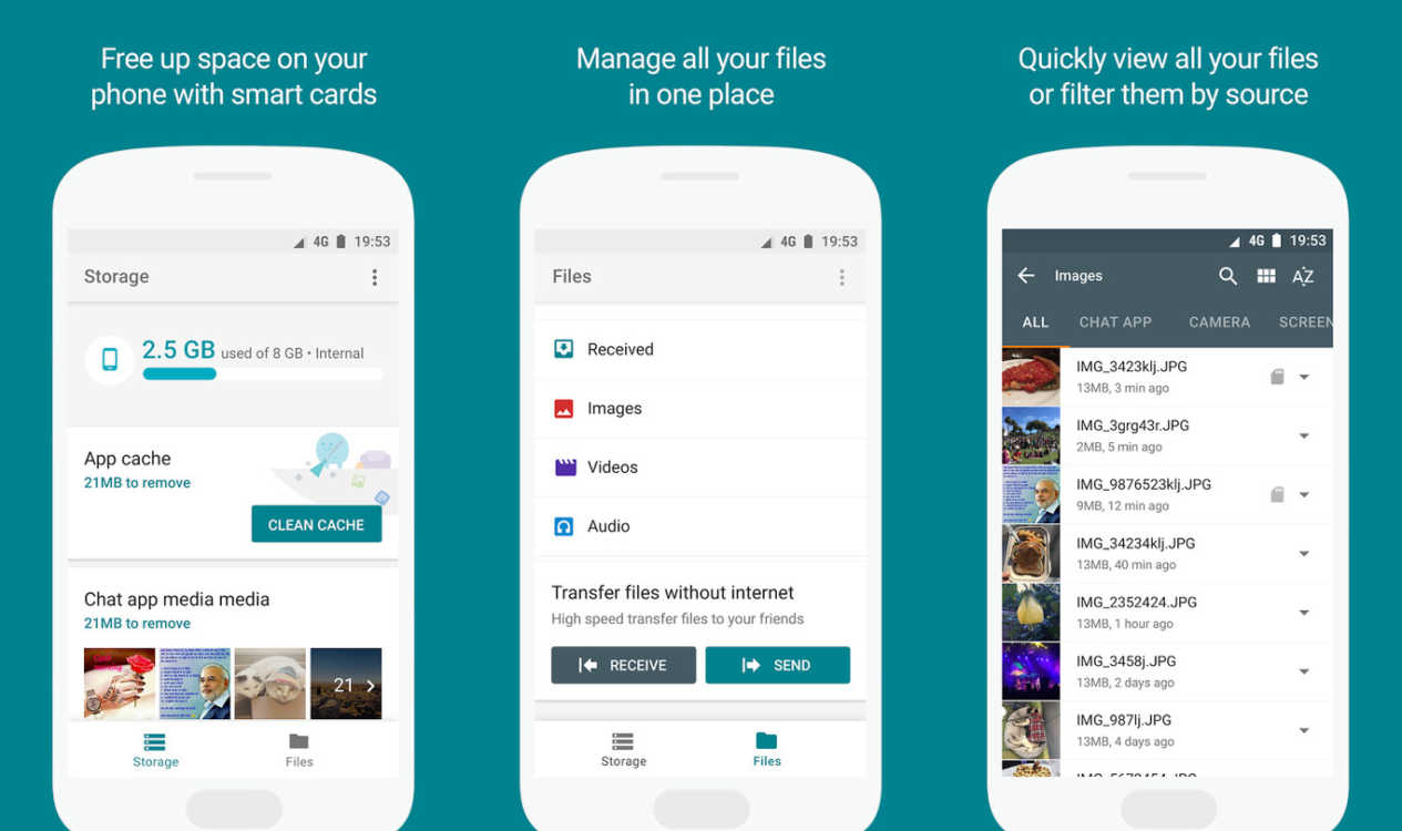 Go files para Android