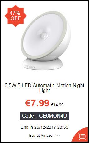 0.5W 5 LED Automatic Motion Night Light