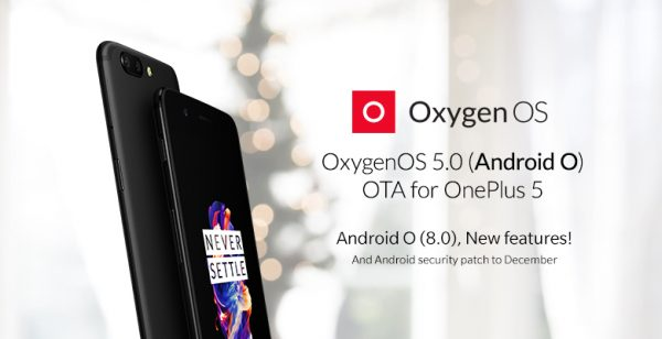 OnePlus 5 se actualiza a Android 8.0 Oreo