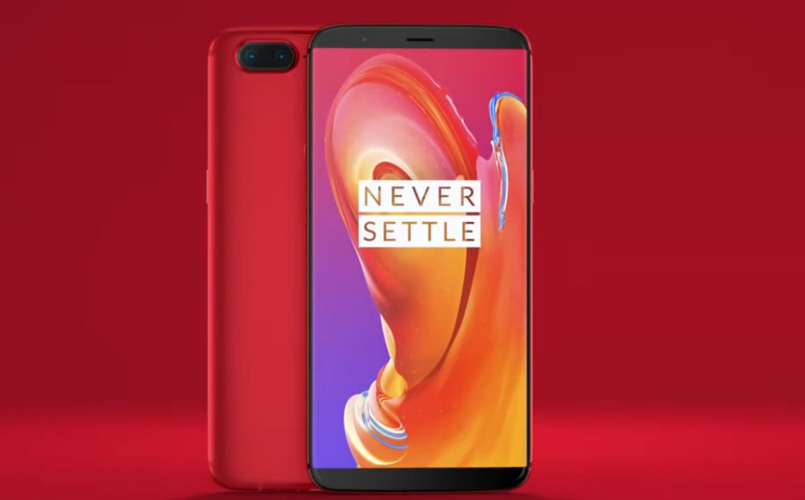 Diseño OnePlus 5T Lava Red