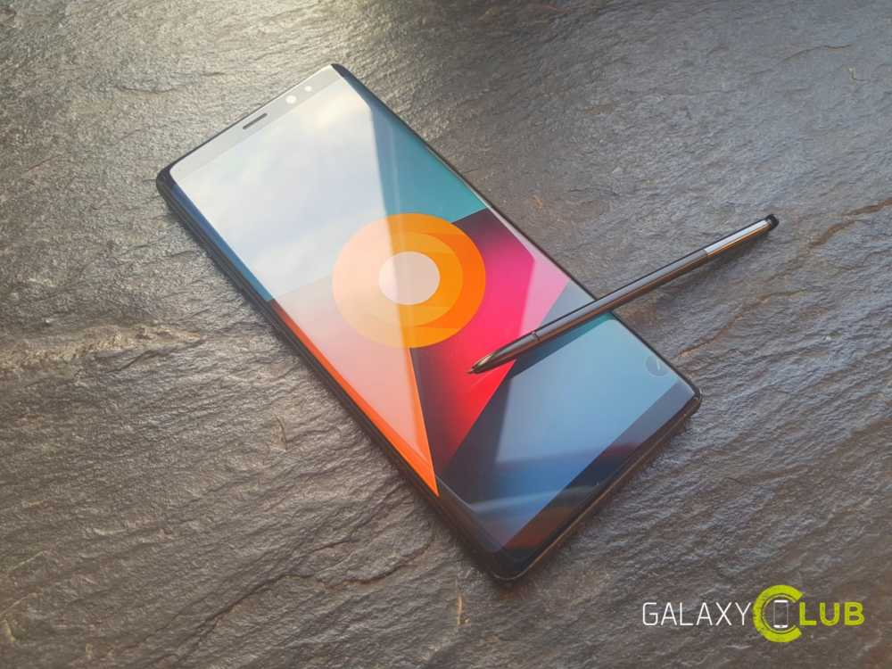 Galaxy Note 8 con Android 8