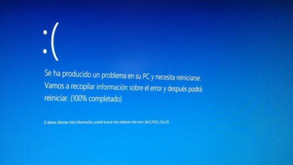 Pantallazo azul (Windows 10)