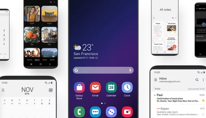 Interfaz One UI Android P