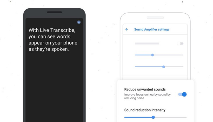 Live Transcribe / Sound Amplifier